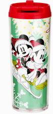 MICKEY & MINNIE MOUSE CHRISTMAS TRAVEL MUG FOR KIDS DOUBLE-WALL WITH LID 7 OZ