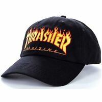 Thrasher Flame Logo Old Timer Cap | Black