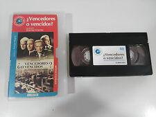 ¿ VENCEDORES O VENCIDOS ? EL JUICIO DE NUREMBERG CINTA TAPE VHS COLECCIONISTA