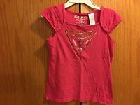 Girls GUESS Pink Shirt Size M 10/12