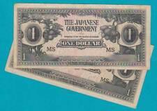 1942 JIM Japanese Invasion Money One Dollar **MS** Malaya Borneo RARE =ONE ONLY=
