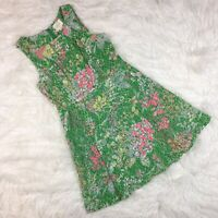MAEVE Womens Dress 8 Green Verbena Green Floral Sequin Lace Anthropologie