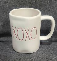 RAE DUNN ARTISAN COLLECTION MAGENTA LARGE LETTER XOXO IVORY MUG CUP NEW GLOSSY