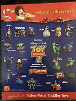 Disney Toy Story 2 McDonalds Happy Meal Toys Set of 19 -UNOPENED 1999 all but 1