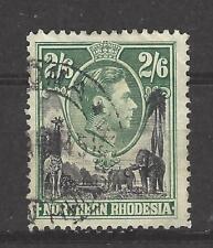 NORTHERN RHODESIA  # 41  Used  KING GEORGE VI,  GIRAFFE & ELEPHANTS