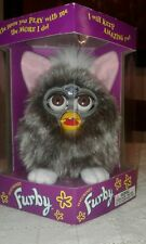 Original Furby Gray And White feet Brown Eyes 1998 New Sealed (A5)