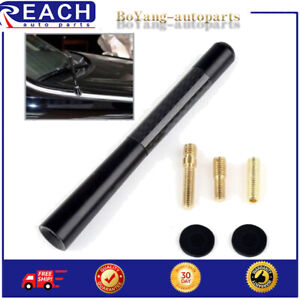 4.7 inches Car Antenna Carbon Fiber Radio FM Antena Black Kit For Toyota Chevy