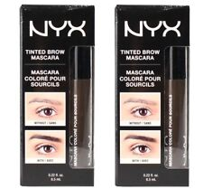 2 x NYX 6.5mL TINTED EYEBROW MASCARA TBM05 BLACK 100% Brand New