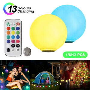 LED Light Ball Colorful IP68 Waterproof Floating Pool Lights Garden Outdoor Lamp