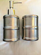 Pewter Grey Silver Soap Dispenser Chic Modern Farmhouse-Great Gift! WORLD SHIP!