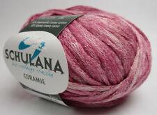Coramie Von Schulana Hilo de Cinta Brillo 50g Color 1 Rosa Blanco Moteado