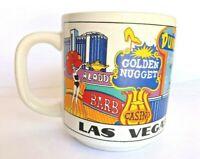 Vintage Las Vegas Sands Dunes Aladdin Caesar's Souvenir Coffee Cup Tiny Nick