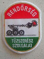 Hungarian Police Bomb Squad Patch-RENDORSEG TUZSZERESZ SZOLGALAT