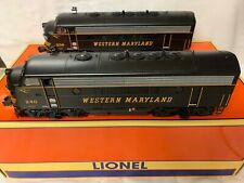 ✅LIONEL LEGACY WESTERN MARYLAND F7 AA DIESEL ENGINE SET 6-34689 NEW!