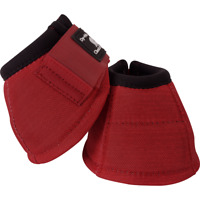 Classic Equine Crimson Red DYNOHYDE 2520D No Turn Bell Boots Horse Tack
