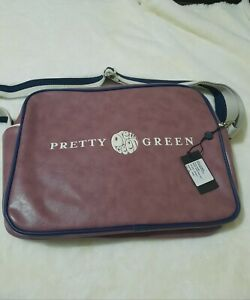 Pretty Green Mens Shoulder Bag Purple 14x12 Inch