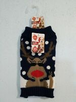 NWT Pet Central Knit Rude Dolf Rudolph Winter Sweater. Size XS