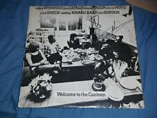 STEVE WINWOOD + DAVE MASON SIGNED WELCOME TO THE CANTEEN VINYL RECORD