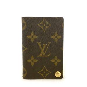 Louis Vuitton Monogram Porte Billets Cartes Credit Pression Card Case /62013