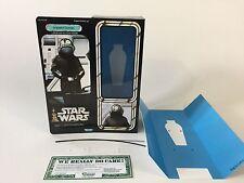 "custom vintage Star wars 12"" imperial gunner box + inserts"