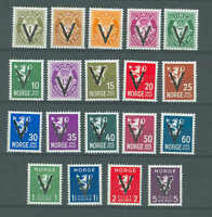 Norway MNH 1941, V overprint - without watermark, WW2, f023