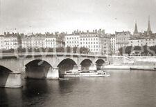 Lyon Saône Pont du Change Repro tirage photo ancienne déb. XXe s.