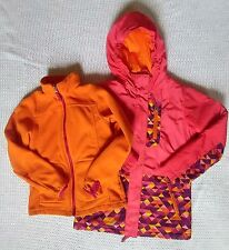 Lands End Girl 3-in-1 Stormer System Coat SMALL 7-8 Soft Coral Rose