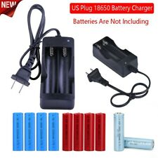 Us Plug Ac 2 Slot Battery Charger For 18650 3.7V Rechargeable Li-Ion Battery Us