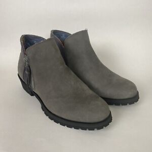 Womens 7.5 The North Face Bridgeton Bootie Zip Ankle Low Boots Gray Leather