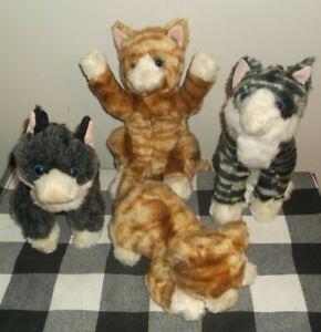 Lot of 4 assorted Melissa and Doug stuffed plush cats Kitties ~ Stuffed Animals