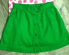 Vitg Lily's Boutique of Beverly Hills Womens Skirt sz S Green Button Front TT69