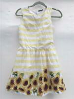 George Sleeveless Sunflower Summer party dress VGC age 12-13 152cm 1gff