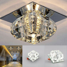UK Modern Crystal LED 3W Ceiling Light Lighting Pendant Lamp Fixture Chandelier
