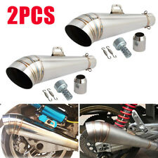 2PCS 38-51mm Motorcycle Exhaust Muffler Silencer Pipe Universal For 125cc-1000cc