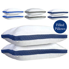 Gusseted Pillow Set of 2 Bed Pillows Neck Support Side & Back Sleepers Pillows