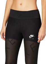 Nike Air Womens 7/8 Mesh Running Leggings - Black - Size L
