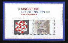 SINGAPORE 2014 LIECHTENSTEIN JOINT ISSUE  (ARTWORK) SOUVENIR SHEET 2 STAMPS MINT