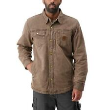 DuraDrive SONI Brown Vintage Lined Duck Jacket with Snap Front