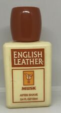 English Leather Musk After Shave 3.4 oz plastic unbreakable bottle