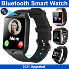 2021 Waterproof Bluetooth Smart Watch Phone Mate For IOS Android Black