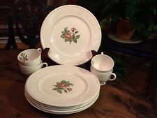 Wedgwood Moss Rose Old Brown Mark 6 Plates Vintage