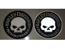 HARLEY DAVIDSON Skull REFLECTIVE Iron On Sew Patch Vest Jacket Biker Motorcycles