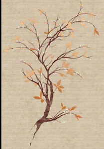 Serenity Branch Wallpaper Mural in Rich Earth Tones  CC9501M