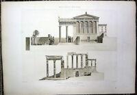 39 ~ ATHENS ERECHTHEUM ERECHTHEION TEMPLE, Old 1910 Greek Architecture Art Print