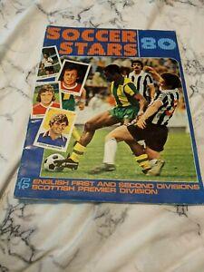 1980 F.K.S. Soccer Stars Sticker Album First & Second Division, & Scottish Prem