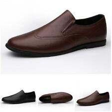 Mens Faux Leather Slip on Loafers Shoes Driving Moccasins Breathable Pumps New L