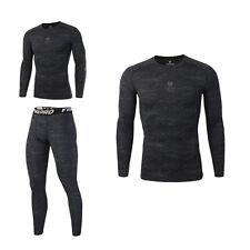 Men Sport Apparel Skin Tights Compression Base Under Layer Workout Pants T-Shirt