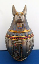 Egyptian Jackal God of the Dead Anubis Canopic Jar Memorial Funeral Urn #1402