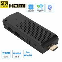 Mini PC For Intel Z8350 4-Core 4K DDR3 4GB+64GB PC Computer 2.4+5G WIFI TV Stick
