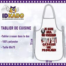 Tablier de cuisine personnalisé JE SUIS NUL EN CUISINE...  Humour original